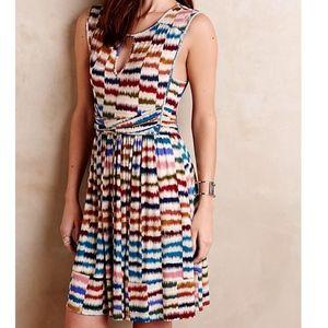 Maeve Anthropologie Colorful Sennebec Mini Dress